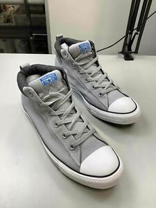 Men's Converse Grey Canvas Mid-Top Shoes Size 12