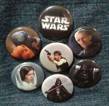 """1"""" pinback button set inspired  by """"Star Wars"""" """"A New Hope"""" Set 2 of 3"""