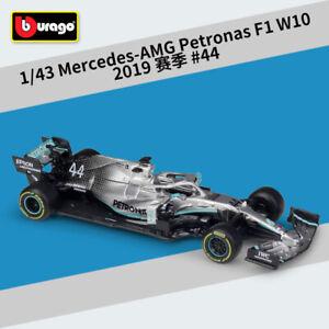 1:43 Bburago MERCEDES AMG F1 W10 #44 Hamilton #77 Valtteri Botta's Racing Car