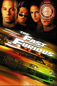 THE FAST AND THE FURIOUS V2 2001 ORIGINAL CINEMA MOVIE PRINT PREMIUM POSTER