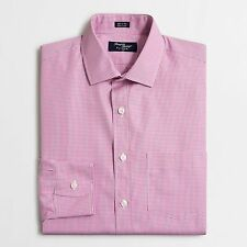 J crew dress shirt in mini-check / SMALL / Color PLUM  New With Tags