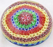 Charming BACCARAT Crystal CONCENTRIC Millefiori Close Pack ART Glass PAPERWEIGHT