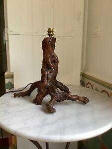 Pied de lampe en  bois / Cep de Vigne