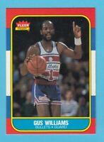 1986-87 Fleer Basketball Gus Williams # 124 -- Washington Bullets