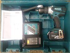 Makita BHP458RF 18v combi hammer drill 3.0Ah battery and fast charger heavy duty