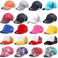 Herren Mesh Basecap Kappe Mütze Trucker Baseball Sports Hüte Verstellbar Sommer