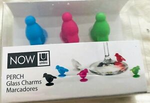 Umbra Now Perch Glass Charms Markers Set of 6