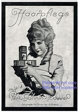 Hair care Peru Tannin German ad 1925 Rococo Baroque wig Lady curls shampoo