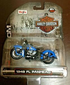 MAISTO HARLEY DAVIDSON Motorcycle Die Cast 1948 FL Panhead BLUE NEW 1:24 Sealed
