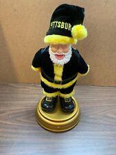 """Black And Gold Talking Santa """"Pittsburgh� Rotates And Shoots The Moon"""