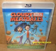 Cloudy With a Chance of Meatballs (Blu-ray Disc, 2010, 3D) New Sealed