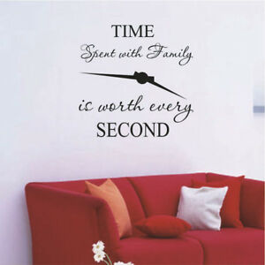 1pc time spent with family is worth every second art wall stickers home decaADD
