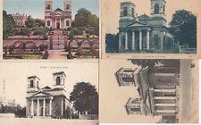 Lot 4 cartes postales anciennes MACON église saint-vincent