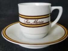 Vintage Tia Maria Resturaunt Demitasse Cup & Saucer Schmidt Porcelana Brazil