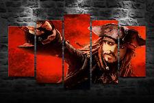 HD Printed Oil Painting Decor Art On Canvas Captain Jack Sparrow 5PCS Unframed