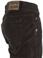NEWT$100%AUTH MOSCHINO BROWN  CORDOUROYS  JEANS PANTS BEAUTIFUL DESIGN 34