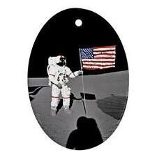 NASA MOON LANDING USA FLAG CHRISTMAS ORNAMENT NICE GIFT