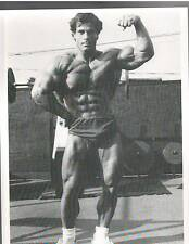 FRANCO COLUMBU Mr Olympia Working Out Gold's Gym Bodybuilding Muscle B+W Photo