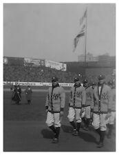 16x20 PRINT: BABE RUTH MARCHES, 1ST OPENING DAY BASEBALL YANKEE STADIUM 1923