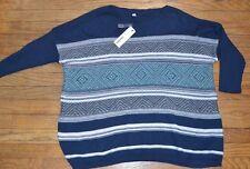 Baja Poncho Sweater Sonoma 3/4 Sleeve Light Weight Sweater Size Large