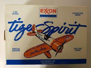 "EXXON ""Tiger Spirit"" 1929 Die Cast Metal Travel Air Airplane Bank  Model R  1992"