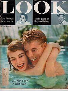 1955 LOOK July 12-Julian Huxley;Gwen Verdon;Hollywood fathers;Gloria Vanderbilt