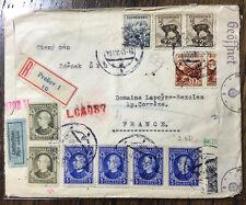 Slovakei Presov - R-Brief 19.XII 1941 - top Frankatur - auf Frankreich -Zensur