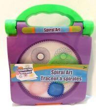 Spiral Art Craft Set Spirograph -Stencil Spiral Wheels Compact Travel Brand New