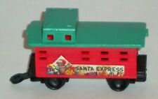 "Santa Express Mini 2.25"" Caboose Hard Plastic Non Electric Red Green Replacement"