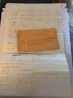 1869 Handwritten Letter Leonard Haupersfield Simeon Hart Naugatuck Tribe Family