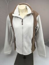The North Face Ivory And Brown Fleece full Zip Up winter Warm Jacket Small