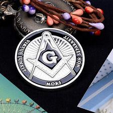 Color Freemason Masonic Mason Antique Finish Dia40mm Commemorative Coin 1pc^