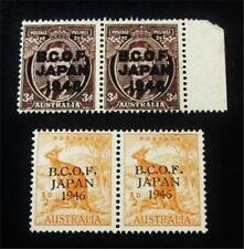 nystamps British Australia Stamp # M1,M3 Mint Og Nh $23 J15y1976