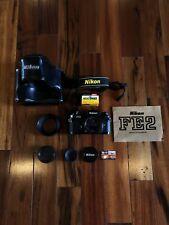 *Mint* Nikon FE2 50mm 1.8Nikon Series Black Body. W/ Original manual