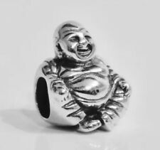 Authentic PANDORA SMILING BUDDHA Charm W/ Pandora TAG & HINGED BOX  #790478