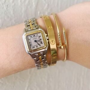 AUTHENTIC CARTIER WATCH PANTHERE SM YELLOW GOLD CASE 22MM USA SELLER