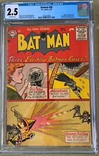 Batman #98 (1956) CGC 2.5 -- 1st Arnold Drake story for DC; Ad for Showcase #1