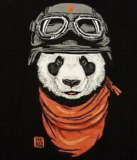 """The Happy Adventurer"" Panda Men's Large Shirt Teefury"