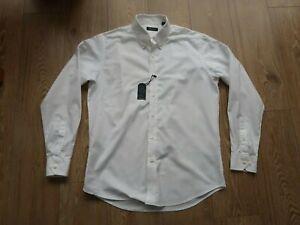 "NEW NAUTICA 16""/17"" Large White Cotton Shirt L/S Classic Fit Button Down RRP £50"