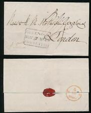 GB QV 1840 GREENOCK SHIP LETTER 3 LINES BOXED + DATED