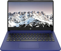 "NEW HP Laptop 14"" HD Intel Celeron N4020 64GB eMMC 4GB SDRAM Win 10 Indigo Blue"
