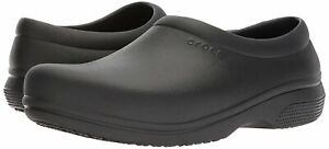 Crocs Womens On The Clock Closed Toe Clogs, Black, Size 12.0 g71C