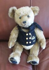 "Harrod's 2000 Millennium Bear 17"" Blue Waistcoat Honey Brown Fur Smoke Free Home"