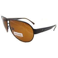 POLICE occhiali da sole 8511 r07p NERO OPACO ANTRACITE MARRONE POLARIZZATO