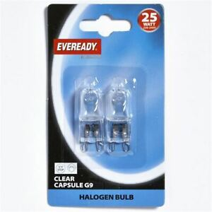 Halogen Capsule Bulb Energy Class E Halopin Oven Light Lamp Cooker Twin Pack 25W