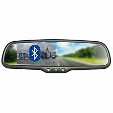 "Master Tailgaters Rear View Mirror Replacement With 4.3"" LCD and Bluetooth"