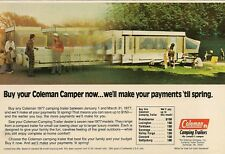1977 Coleman Camping Trailer Camper photo Vintage Print Ad