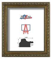 "US Art Frames 1.37"" Gold Victorian Ornate Solid Hard Wood Picture Frame S-B"