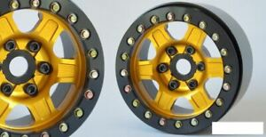 "SSD 1.9"" Challenger Beadlock Wheels GOLD YELLOW SSD00382 6 spoke 12mm Hex"