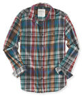 AERO Aeropostale Mens Long Sleeve Plaid Button Down Woven Shirt S,M,L,XL,2XL,3XL